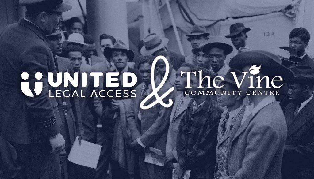 united legal access and the vine Windrush project